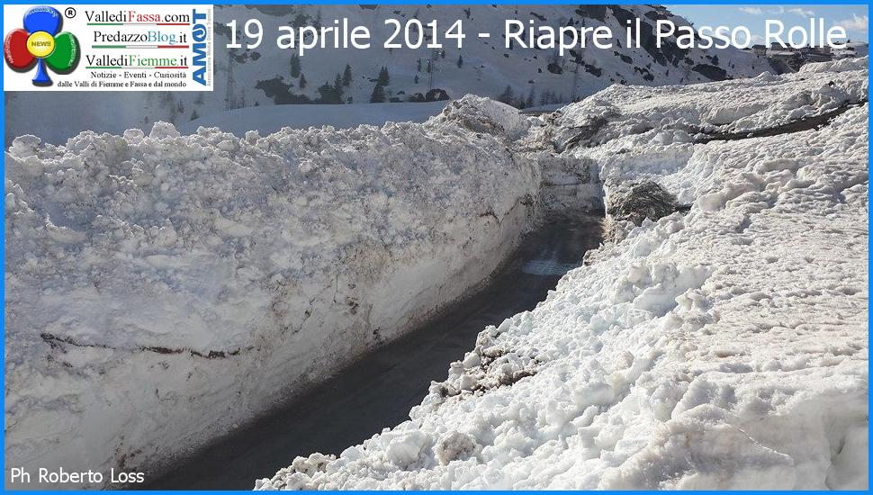 riapre passo rolle 18 aprile 2014 predazzp blog 1 Riaperto il Passo Rolle dopo 73 giorni di chiusura per neve