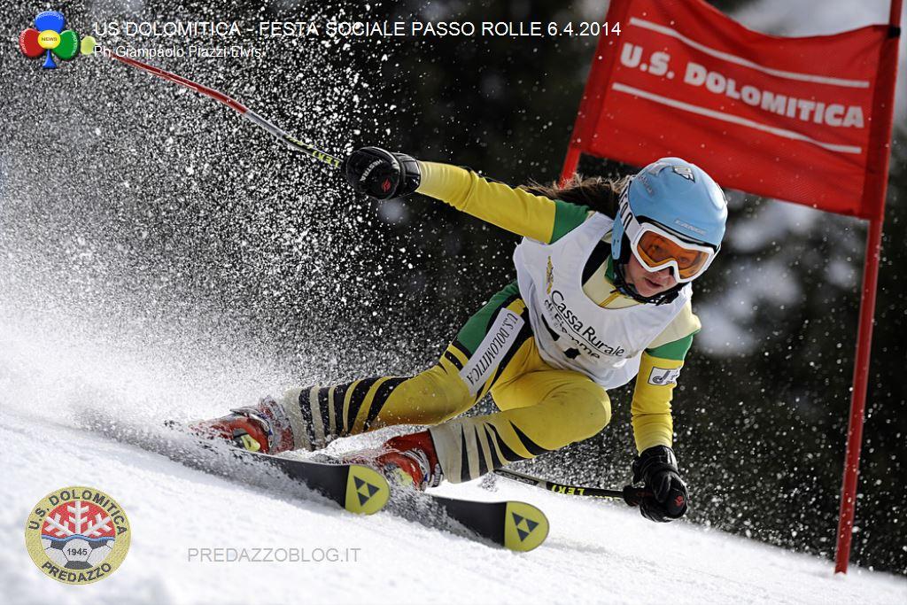 us dolomitica predazzo festa sociale passo rolle 6.4.2014 ph elvis predazzoblog49 Rolle, Trofeo 70° US Dolomitica e Campionato TN Slalom Speciale