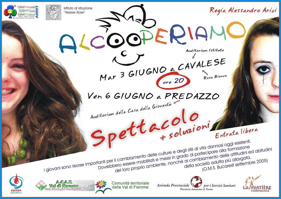 alcooperiamo fiemme 2014 Alcooperiamo, 2 serate spettacolo + soluzioni con Alessandro Arici