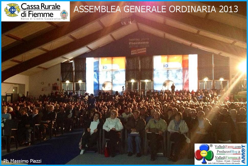 cassa rurale di fiemme assemblea ordinaria 2013 Assemblea Generale Cassa Rurale di Fiemme 2016