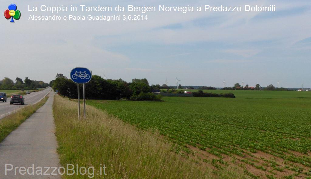 coppia in tandem 10 tappa norvegia predazzo11 La Coppia in Tandem è partita da Bergen Norvegia verso Predazzo Dolomiti Italia