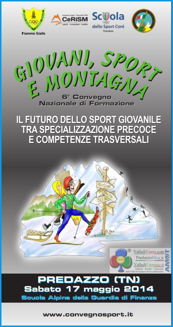 giovani sport e montagna predazzo 2014 6° Convegno Nazionale Giovani, Sport e Montagna a Predazzo