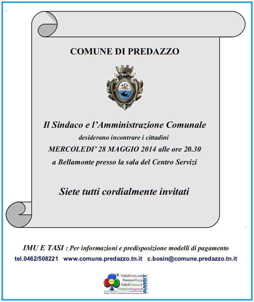 incontro con il sindaco a bellamonte predazzo Predazzo, il video della serata con il Sindaco e Giornalino Predazzo Notizie