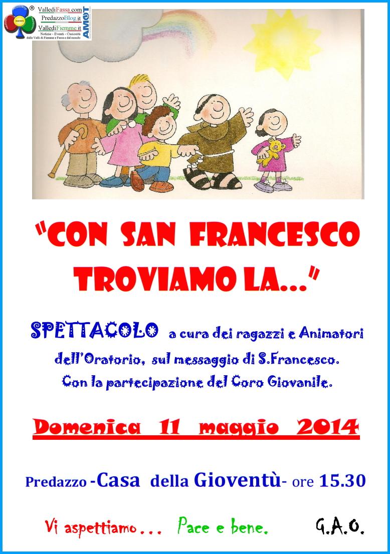 oratorio predazzo san francesco Predazzo, avvisi della Parrocchia 4 11 maggio