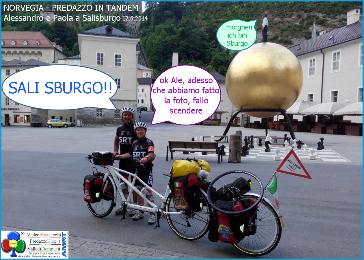 sali sburgo1 La Coppia in Tandem è partita da Bergen Norvegia verso Predazzo Dolomiti Italia