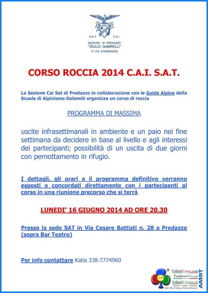corso roccia cai sat predazzo Cai Sat Predazzo, Corso Roccia 2014
