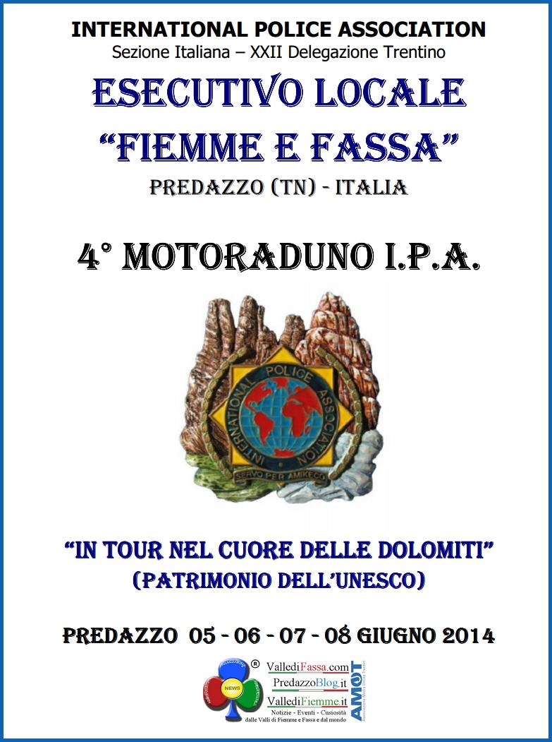 locandina motoraduno fiemme fassa predazzo Motoraduno IPA partenza da Predazzo