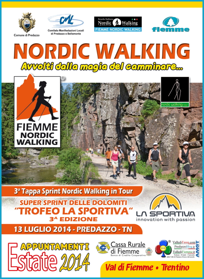 nordic walking estate 2014 predazzo 3° Trofeo La Sportiva Nordic Walking a Predazzo