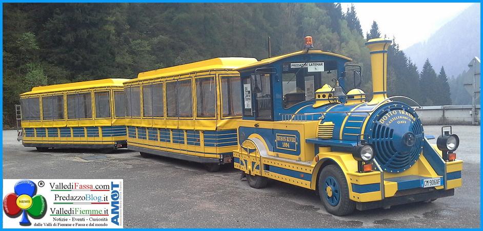 nuovo treno di predazzo1 vecchio Rosso Treno è in arrivo a Predazzo
