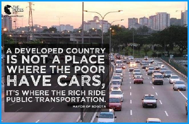 bogota transdolomites Un paese sviluppato è dove i ricchi si muovono con mezzi pubblici