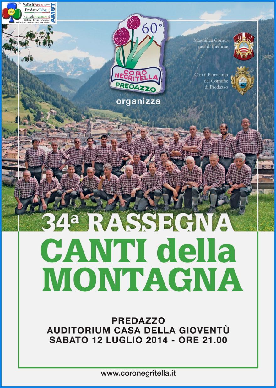 coro negritella predazzo rassegna estate 2014 60° del Coro Negritella con Rassegna e Mostra Fotografica