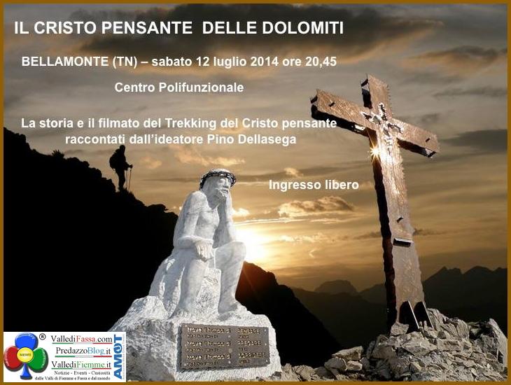 cristo pensante a bellamonte Bellamonte, Il Cristo Pensante delle Dolomiti con Pino Dellasega