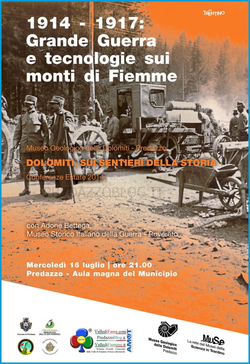 grande guerra e tecnologie sui monti di fiemme mostra muse predazzo fiemme Grande Guerra e tecnologie sui monti di Fiemme al Museo di Predazzo