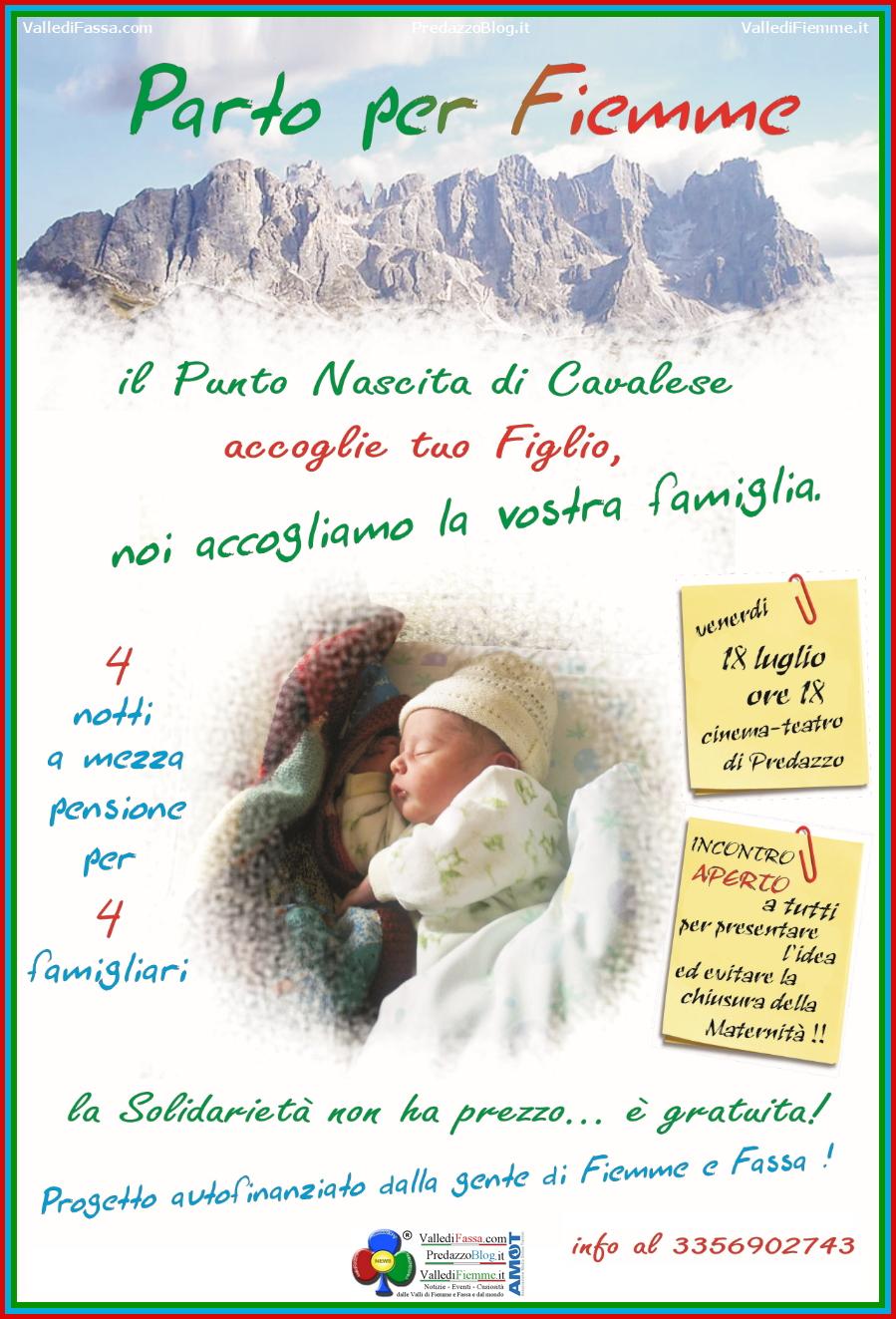 parto per fiemme 2014 Parto per Fiemme un progetto geniale per salvare il Punto Nascite di Cavalese