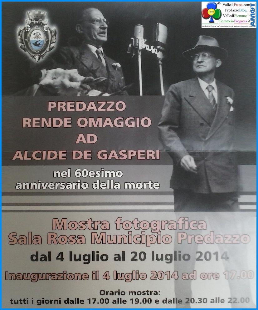predazzo omaggio a degasperi Predazzo, incontro con Maria Romana figlia di Alcide De Gasperi