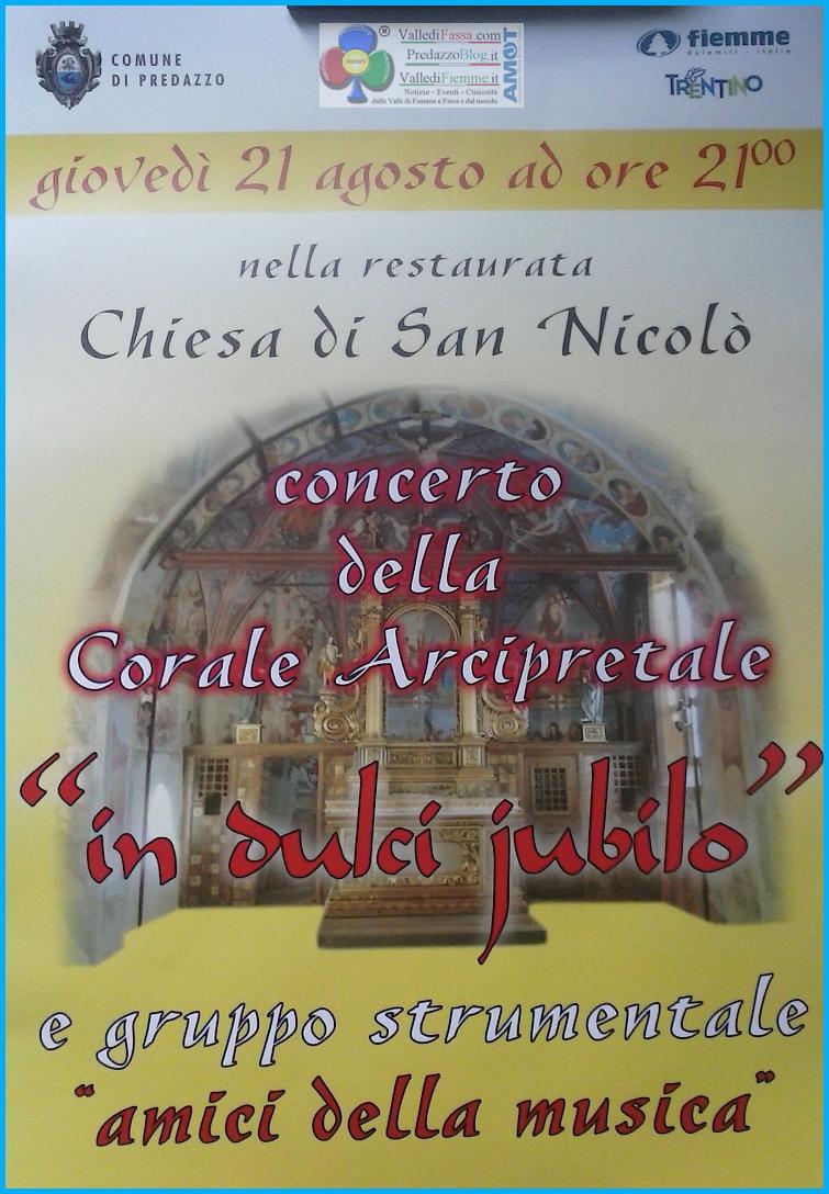 concerto in dulci jubilo predazzo Predazzo, Concerto nella Chiesetta di San Nicolò