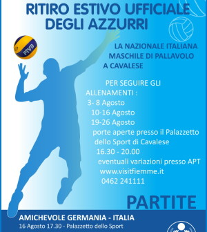 partite volley nazionale cavalese 2014
