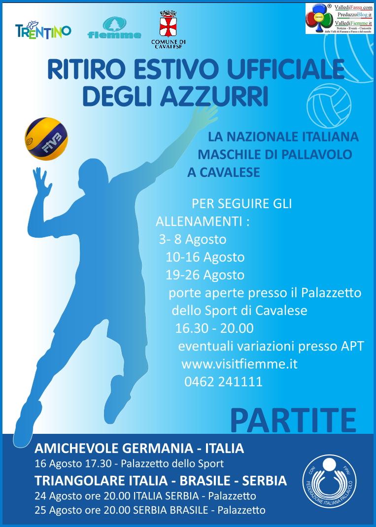 """partite volley nazionale cavalese 2014 La Nazionale di Volley aiuta """"Parto per Fiemme"""""""