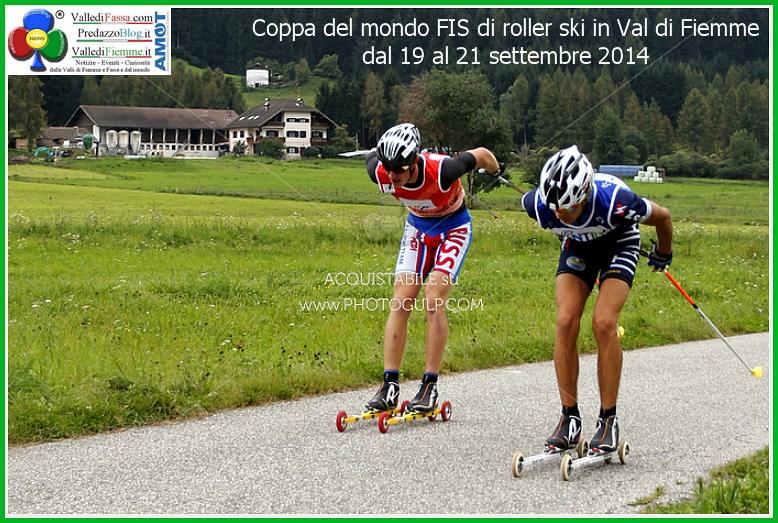 Coppa del mondo FIS di roller ski in Val di Fiemme dal 19 al 21 settembre 2014 Coppa del Mondo di Skiroll in Valle di Fiemme