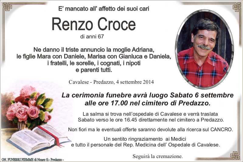 Croce Renzo Necrologi, Renzo croce e Emma Barcatta