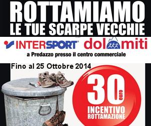 Cemin Sport Intersport Dolomiti rottama scarpe