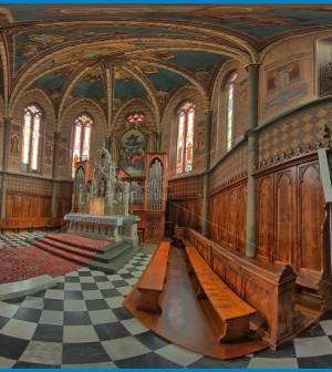chiesa predazzo interno 360° presbiterio predazzo blog