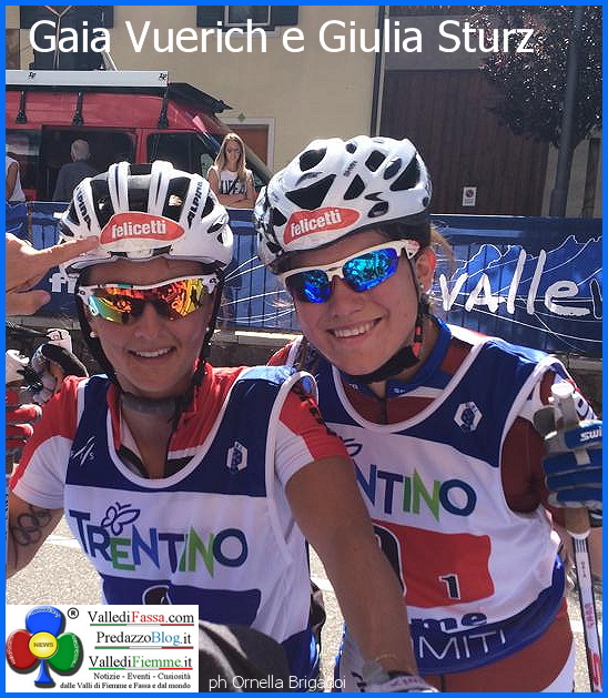 gaia vueric giulia sturz fiemme 20141 Giulia Stürz e Gaia Vuerich oro nella Team Sprint Fiemme 2014