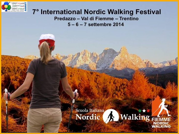 international nordic walking festival predazzo International Nordic Walking Festival 2014 a Predazzo