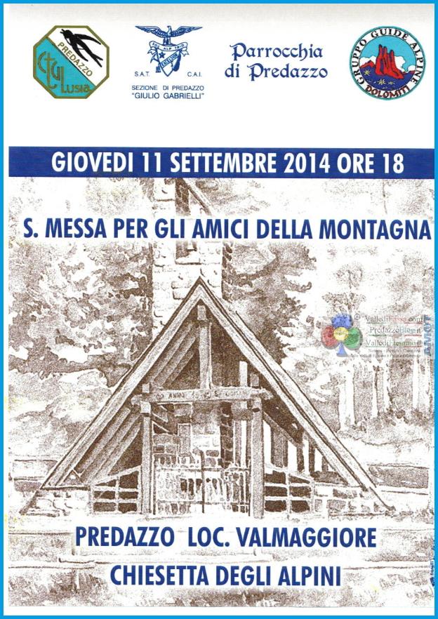 messa 11 settembre valmaggiore Predazzo, avvisi della Parrocchia 7 14 settembre