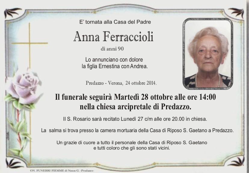Ferraccioli Anna Necrologi, Anna Ferraccioli, Marco Pellegrin, Romano Gabrielli