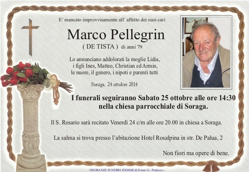 Pellegrin Marco Necrologi, Anna Ferraccioli, Marco Pellegrin, Romano Gabrielli