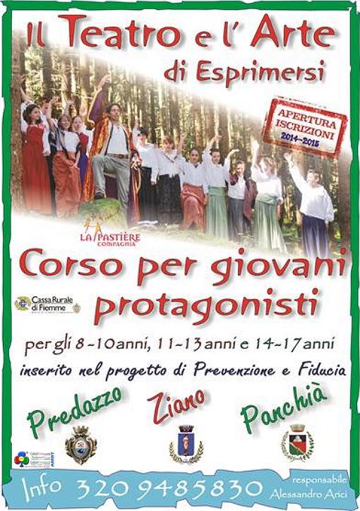 corso teatro predazzo ziano panchia Corso di teatro per giovani con Alessandro Arici