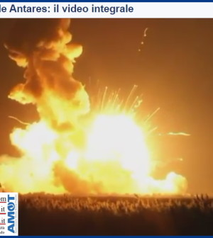 esplosione missile antares nasa video integrale