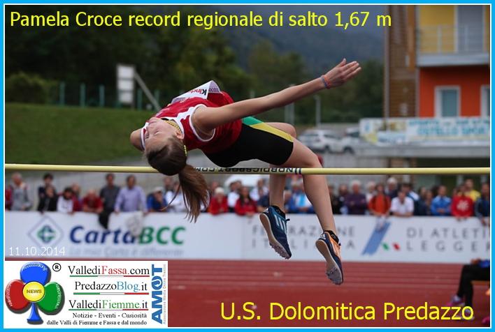 pamela croce predazzo  Pamela Croce record regionale di salto in alto con 1,67 mt.
