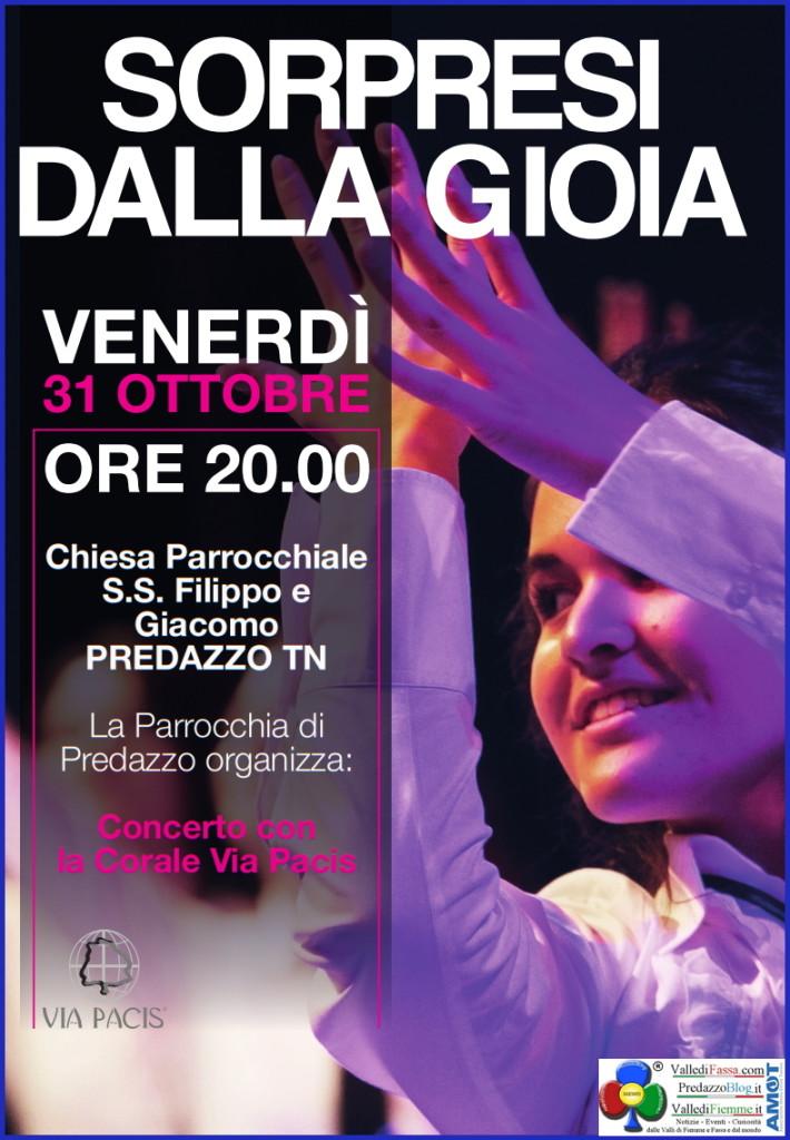 sorpresi dalla gioia chiesa predazzo 710x1024 Sorpresi dalla Gioia Concerto con la Corale Via Pacis a Predazzo