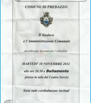 avviso comune predazzo per bellamonte