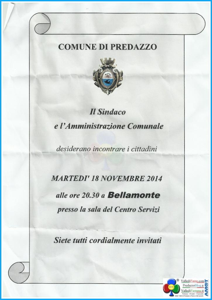 avviso comune predazzo per bellamonte 725x1024 Bellamonte, incontro con lAmministrazione Comunale