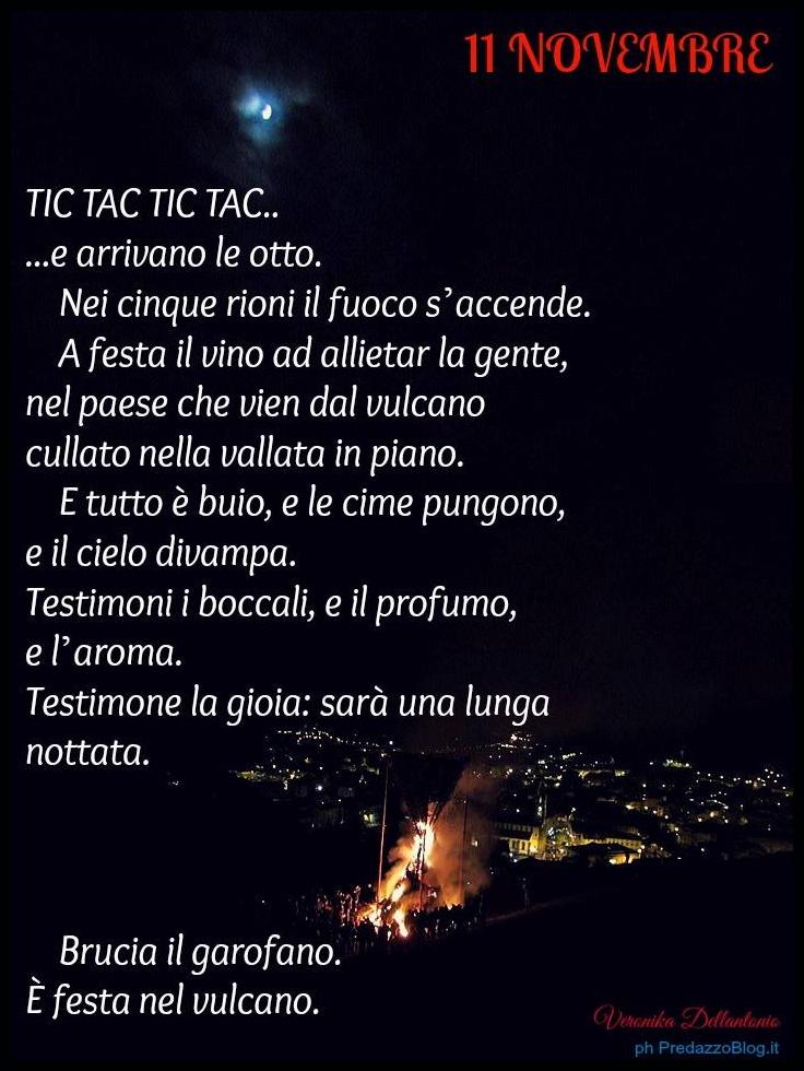 poesia san martin predazzo veronika dellantonio Fuochi de San Martin a Predazzo   11 novembre 2014