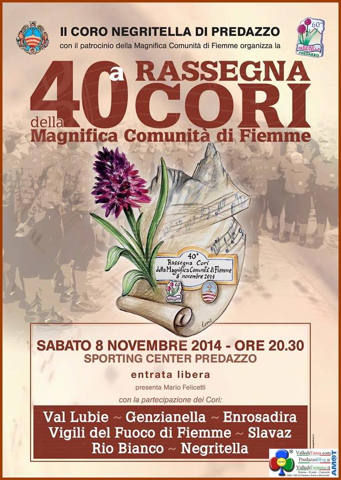rassegna cori montagna di fiemme a predazzo 2014 40° Rassegna dei Cori della Magnifica Comunità di Fiemme a Predazzo
