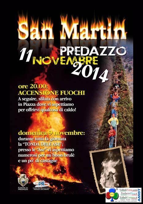 san martin 2014 predazzo Fuochi de San Martin a Predazzo   11 novembre 2014
