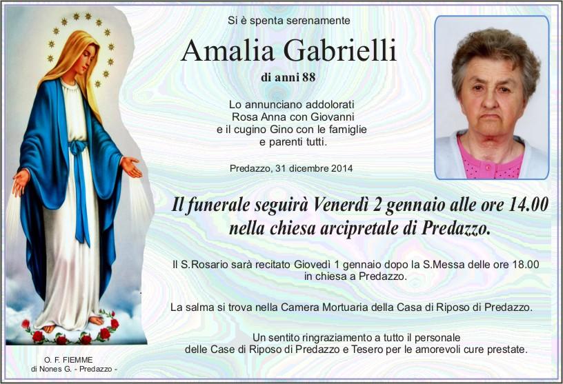Gabrielli Amalia Predazzo, necrologi Amalia Gabrielli e Bosin Viola