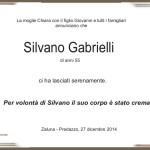 Gabrielli Silvano 150x150 Necrologi, Anna Ferraccioli, Marco Pellegrin, Romano Gabrielli