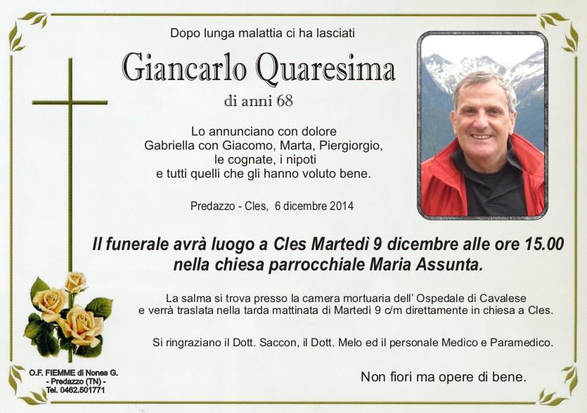 Quaresima Giancarlo Predazzo, avvisi della Parrocchia dal 7 al 14 dicembre