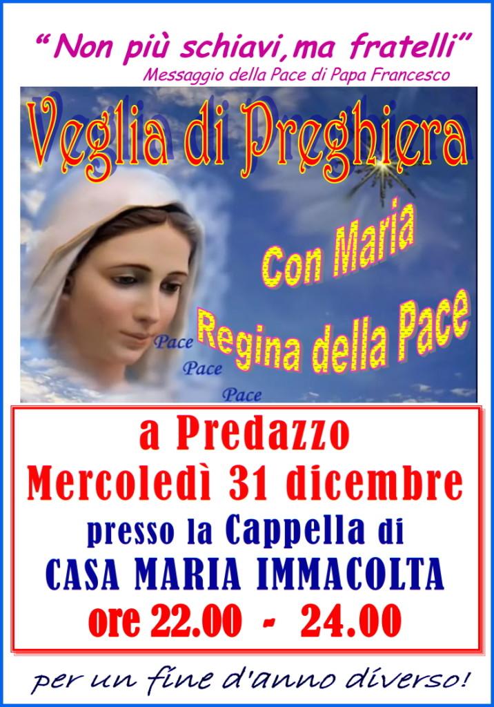 veglia pace capodanno predazzo 716x1024 Predazzo, avvisi della Parrocchia dal 28 dic. al 4 gen.