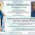 Defrancesco Maria 150x150 Necrologio, Maria Cavada dal Piaz