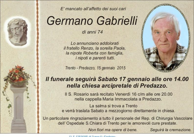 Gabrielli Germano Predazzo, avvisi della Parrocchia 18/25 gennaio 2015