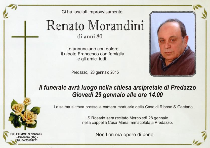 Morandini Renato Predazzo, necrologio Renato Morandini
