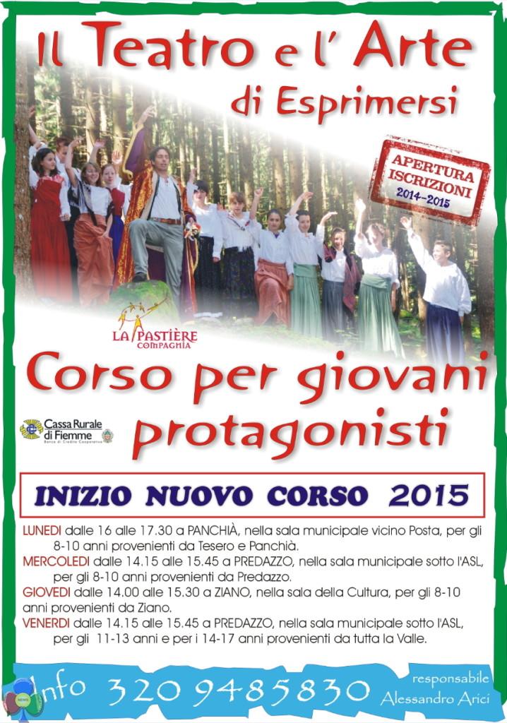 corso teatro arici 718x1024 Corso di Teatro per giovani con Alessandro Arici