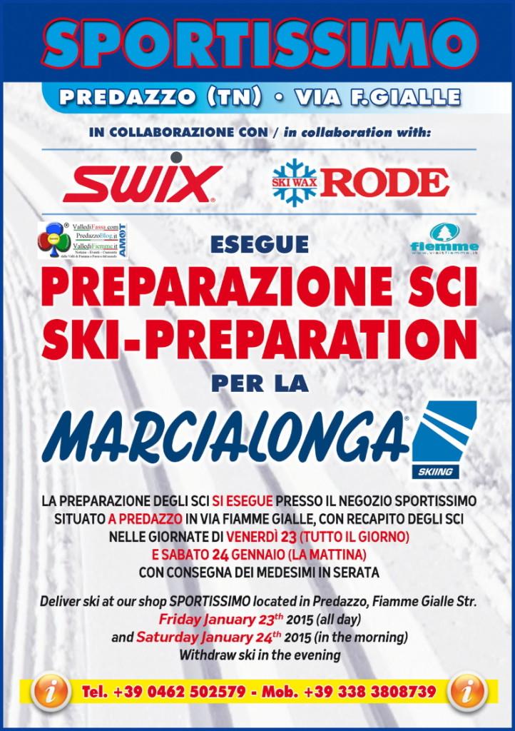 sportissimo scioline marcialonga 722x1024 Sportissimo prepara gli sci per la Marcialonga