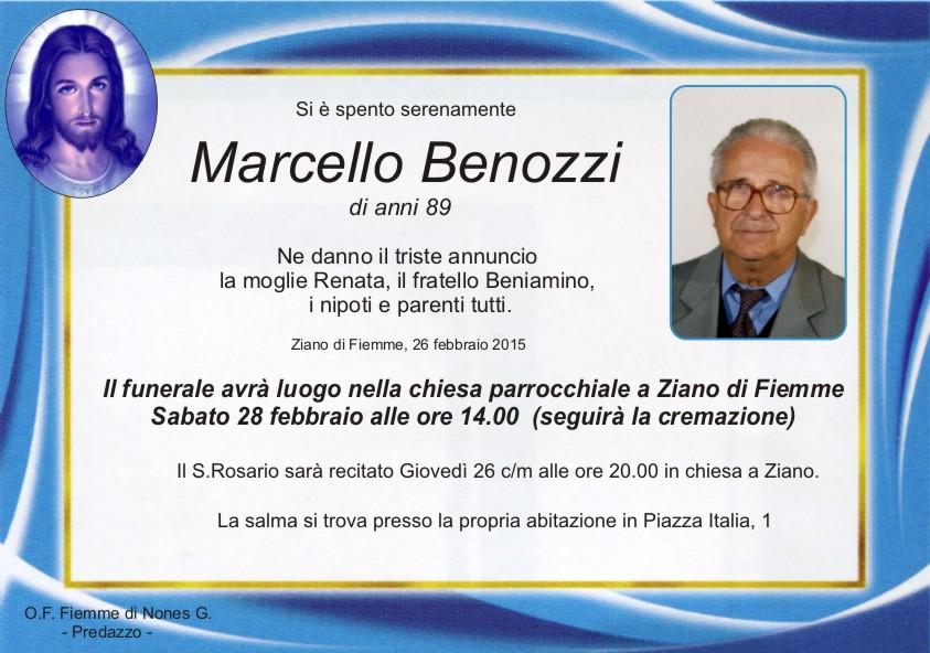 Benozzi Marcello Necrologi, Giovanni Boninsegna e Marcello Benozzi